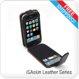 iSAglove Leather Series for Apple iPhone, iPhone3G and iPhone 3GS